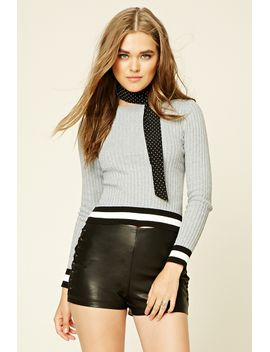 striped-trim-jumper-top by forever-21