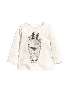 Блуза-с-дълъг-ръкав-и-принт by h&m