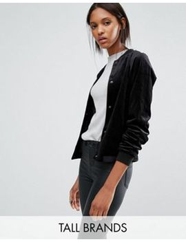 vero-moda-tall-velvet-bomber-jacket by vero-moda-tall