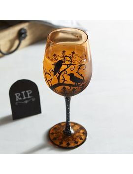 crows-painted-wine-glass by pier1-imports