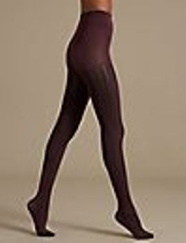 2-tone-ribbed-opaque-tights by marks-&-spencer