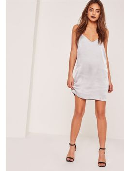 silky-cami-dress-silver by missguided