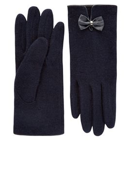 wool-glove-with-bow by accessorize