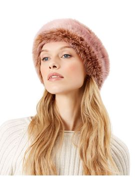 fraise-tipped-faux-fur-bando by accessorize