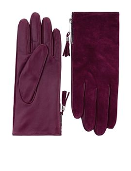 tassle-zip-suede-and-leather-glove by accessorize