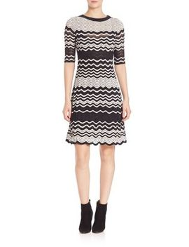 two-tone-ripple-knit-dress by m-missoni
