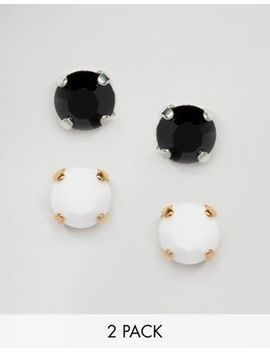 krystal-swarovski-crystal-2-pair-stud-earring-set by earrings