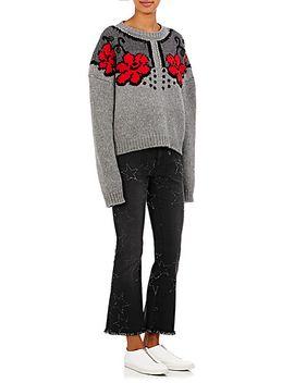 frayed-star-crop-flared-jeans by stella-mccartney