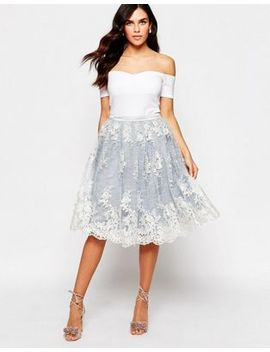 glamorous-midi-skirt-with-lace-overlay by glamorous