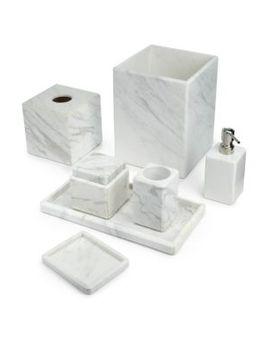luna-white-marble-lotion-pump by waterworks-studio