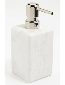 studio-luna-white-marble-soap-dispenser by waterworks