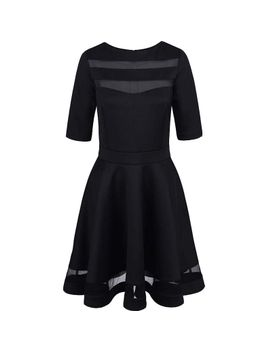 2016-women-summer-autumn-style-casual-black-dress-half-sleeve-o-neck-vintage-party-sexy-dresses-plus-size-clothing by ali-express