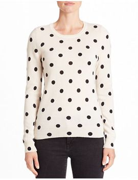 dotted-cashmere-sweater by lord-&-taylor