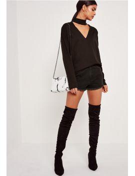 black-choker-neck-sweatshirt by missguided