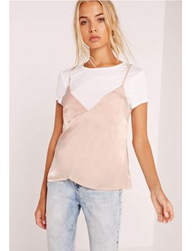t-shirt-cami-overlay-nude by missguided