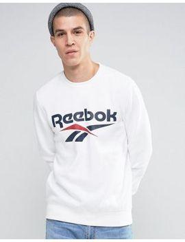 reebok-–-vector-az9536-–-weißes-sweatshirt-mit-rundhalsausschnitt-und-logo by reebok