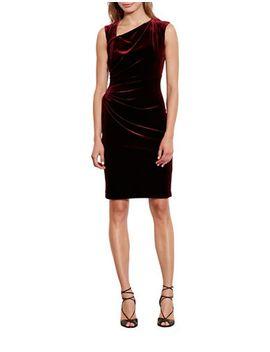 stretch-velvet-sheath-dress by lauren-ralph-lauren