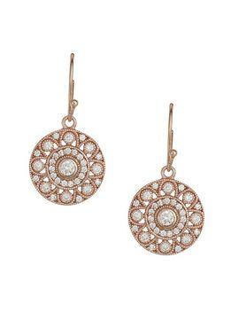 van-peterson-925---rose-gold-vermeil-cubic-zirconia-disc-earrings by van-peterson-925