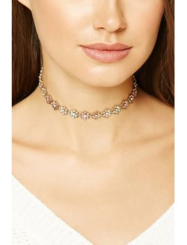 floral-rhinestone-choker by forever-21