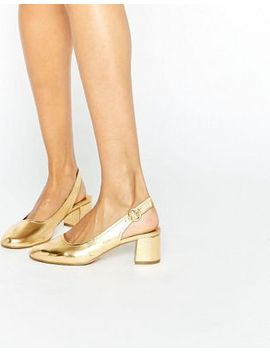 asos-starlight-leather-mid-heels by asos-collection