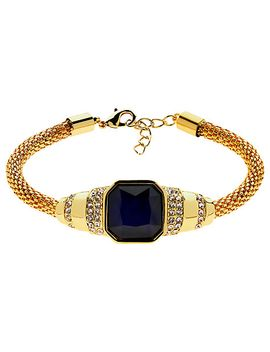 monet-glass-stone-mesh-bracelet,-gold_indigo by monet