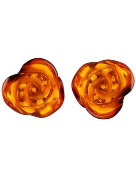 be-jewelled-rose-baltic-amber-stud-earrings,-amber by be-jewelled