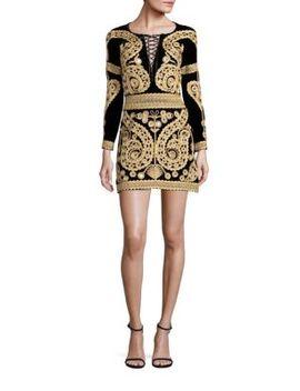 paris-embroidered-velvet-mini-dress by for-love-&-lemons