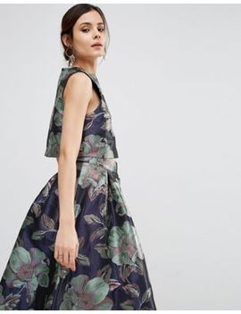 asos-shell-top-in-floral-jacquard-co-ord by asos-collection