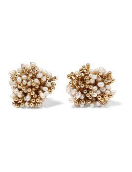 pioggia-gold-tone-pearl-clip-earrings by rosantica