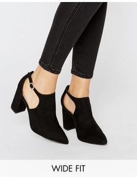 new-wide-fit-suedette-cut-out-block-heel by new-look
