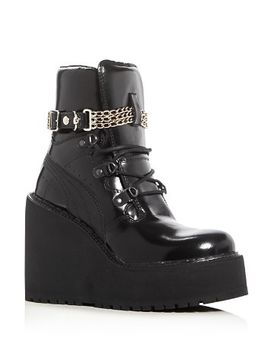 womens-chain-embellished-sneaker-boot-wedges by fenty-puma-x-rihanna