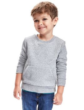 textured-fleece-sweatshirt-for-toddler by old-navy