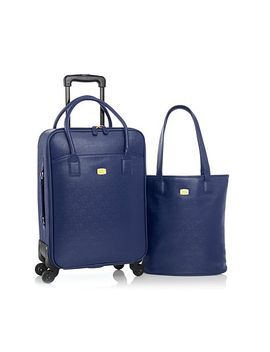 joy-couture-city-collection-tote-and-carry-on-wheeled-dresser by joy-mangano