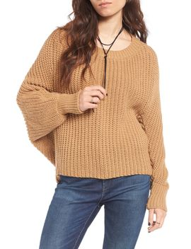rib-knit-high_low-pullover by dreamers-by-debut