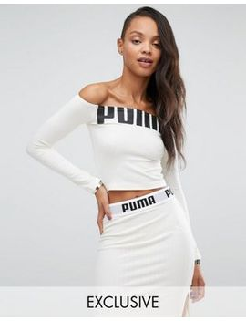 puma-exclusive-to-asos-off-the-shoulder-logo-top by puma