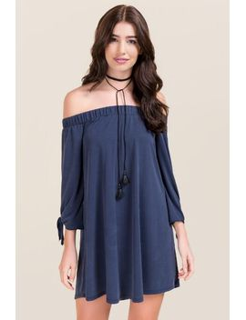 briley-off-the-shoulder-shift-dress by francescas