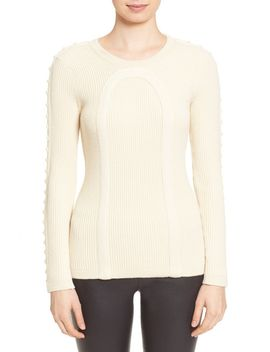 stud-embellished-rib-knit-sweater by tracy-reese