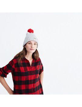 flannel-oversized-ex-boyfriend-shirt-in-buffalo-check by madewell