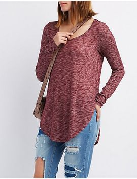 marled-scoop-neck-tunic-top by charlotte-russe