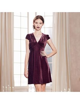 lc-lauren-conrad-runway-collection-plaid-velvet-empire-dress---womens by kohls