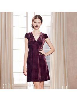 lc-lauren-conrad-runway-collection-plaid-velvet-empire-dress---womens by kohls