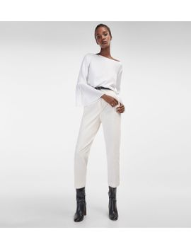 ecru-corduroy-trousers by massimo-dutti