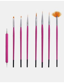 nail-art-brush-set-x-8 by asos-collection