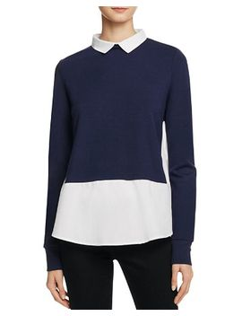 french-connection-fresh-knits-layered-look-sweater by french-connection