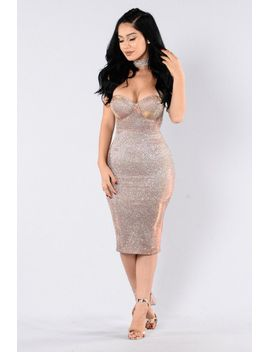 fallen-star-dress---bronze by fashion-nova
