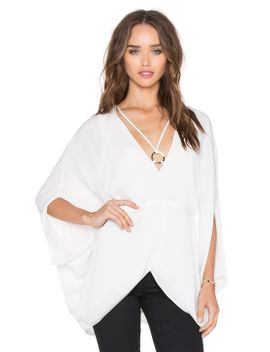v-neck-ring-blouse by halston-heritage