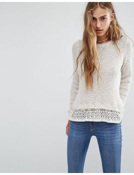 hollister-rib-knit-jumper-with-lace-hem by hollister