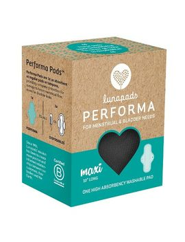 lunapads-performa-high-absorbency-long-black-washable-maxi-pad---1-count by lunapads