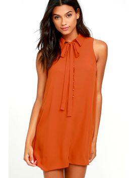 joa-tambourine-dream-rust-orange-swing-dress by joa