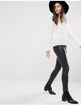minimum-moves-high-neck-ribbed-blouse by top